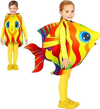 WIDMANN 00045 - Disfraz infantil de pez tropical, unisex, amarillo ...