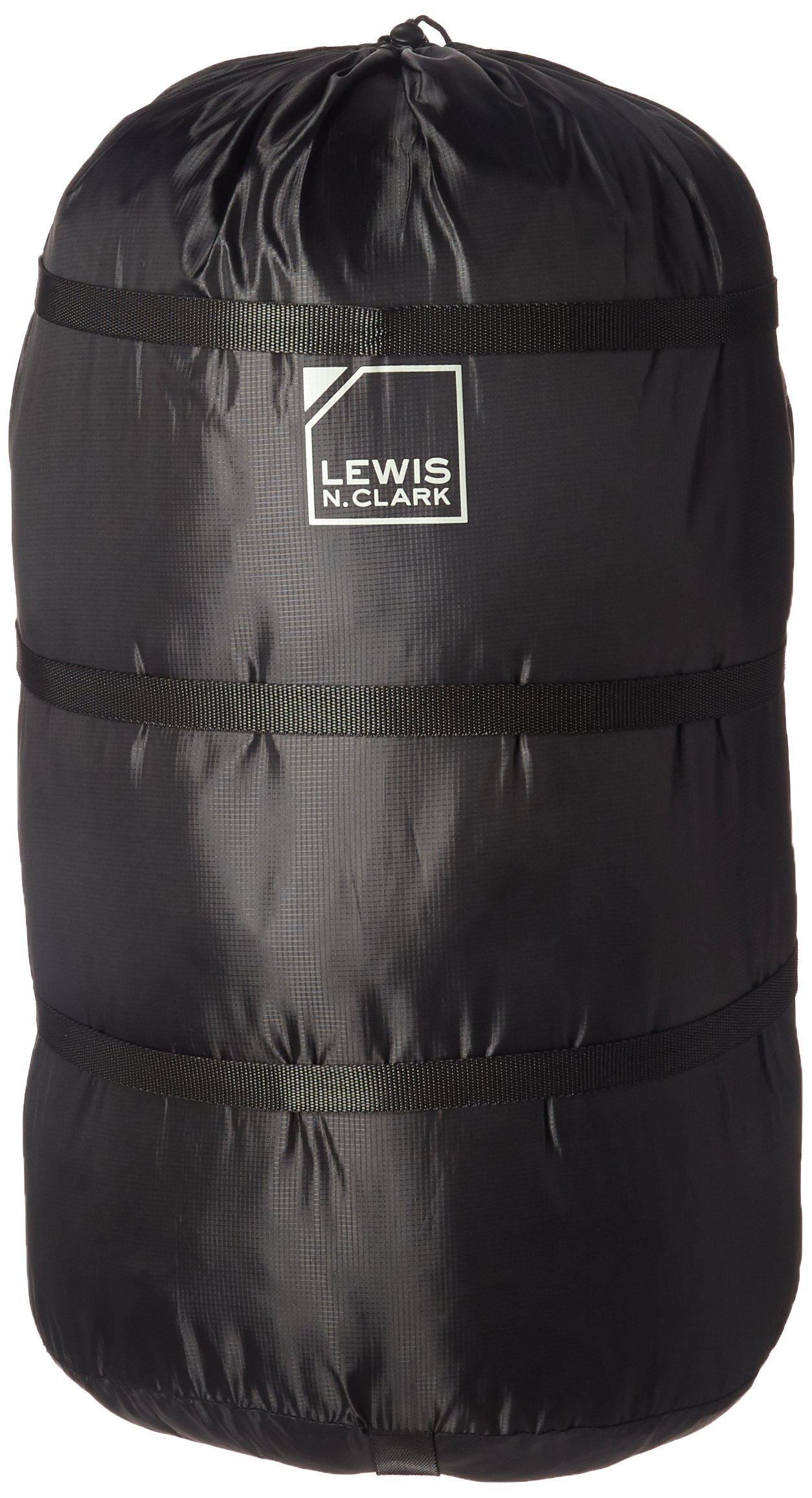 Lewis N. Clark Compression 13'' X 25'' Drawstring Bag, Black, One Size