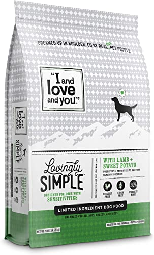I and love and you Lovingly Simple Dry Dog Food – Grain Free Limited Ingredient Kibble Variety of Flavors