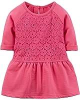 Carter's Girl's Pink Lace Peplum Tunic (9 Months)