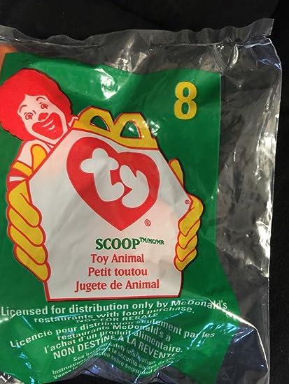 Ty McDonald/'s New Scoop Pelican #8 1998 Teenie Beanie Original Happy Meal toy