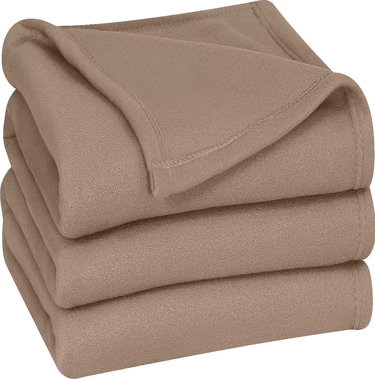 Utopia Bedding Polar Fleece Premium Bed Blanket - Extra Soft Brushed Microfiber (King, Tan)
