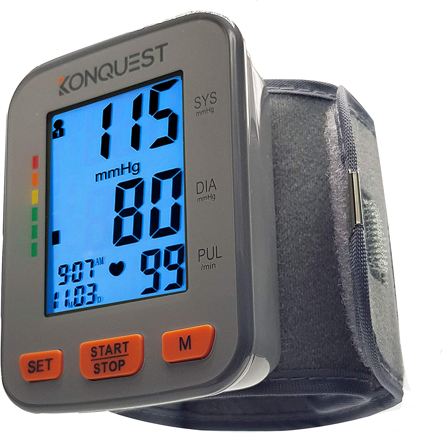 Konquest KBP-2910W Automatic Wrist Blood Pressure Monitor - Accurate - Adjustable Cuff, Large Screen Display, Portable Case - Irregular Heartbeat & Hypertension Detector