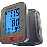 Konquest KBP-2910W Automatic Wrist Blood Pressure Monitor - Accurate - Adjustable Cuff, Large Screen Display, Portable Case -