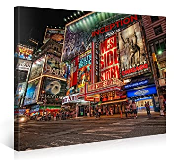 Large Canvas Print Wall Art U2013 MUSICAL BROADWAY U2013 40x30 Inch New York  Cityscape Canvas Picture Part 46