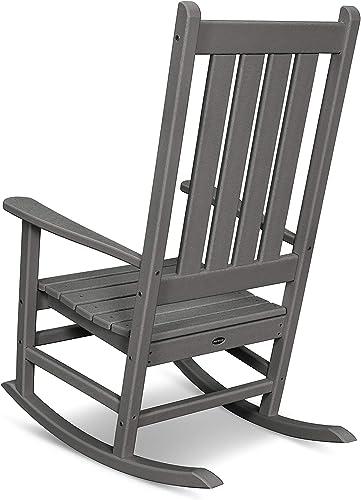 POLYWOOD Vineyard Porch Rocking Chair Black