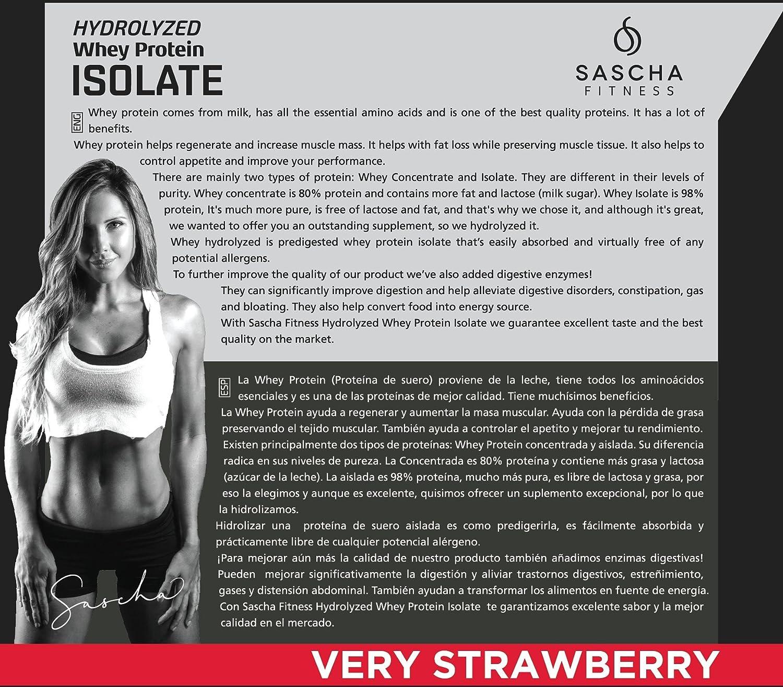 Sascha Fitness Hydrolyzed Whey Protein Isolate,100% Grass-Fed