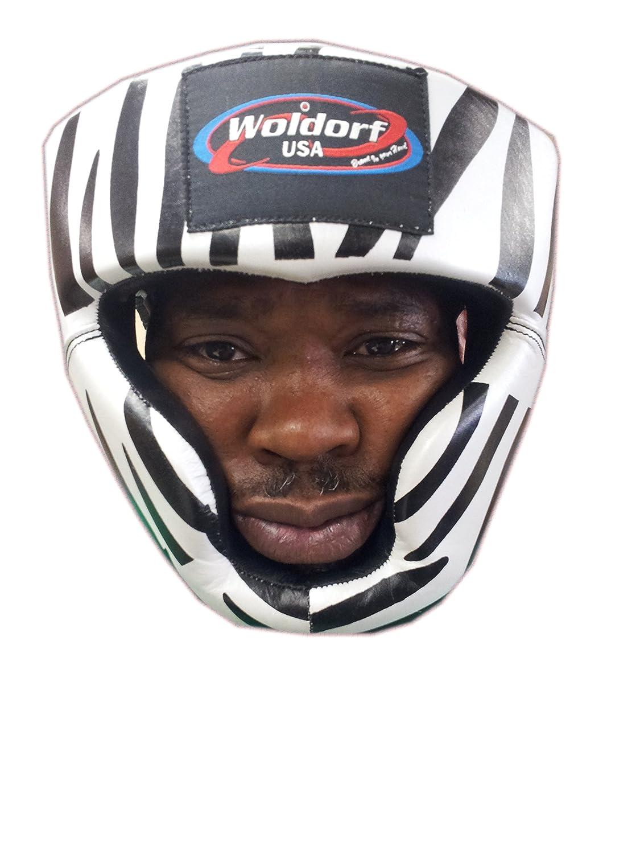 出産祝い Woldorf Headgear USA USA ZebraヘッドガードinレザーChin保護 Woldorf、スパーリングMMA Headgear Large B00KVPOR94, サプリメントai:8e860be6 --- a0267596.xsph.ru