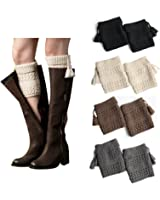 Bestjybt Womens Short Boots Socks Crochet Knitted Boot Cuffs Leg Warmers Socks