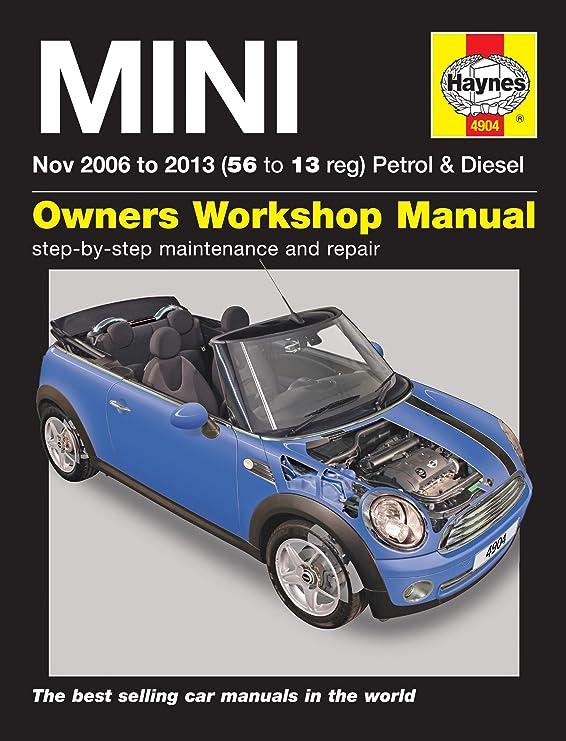 Haynes Reparaturhandbuch Werkstatthandbuch Für Mini 2006 2013 Evtl Nicht In Deutscher Sprache Auto