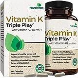 Futurebiotics Vitamin K Triple Play (Vitamin K2 MK7 / Vitamin K2 MK4 / Vitamin K1) Full Spectrum Complex Vitamin K Supplement, 180 Capsules