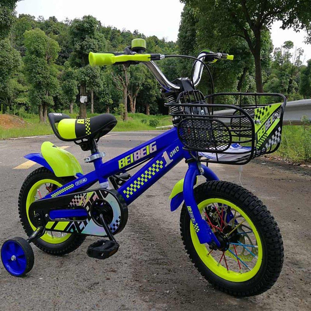 子供用自転車12/14/16インチベビーキャリッジ3-8歳ベビーペダル自転車アルミ合金ブルー ( Size : 14 inch blue ) B07DP1TV9L