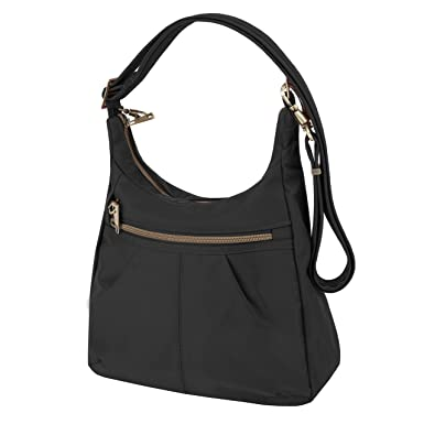 ac120924edeb Buy Travelon Anti-Theft Signature Top Zip Shoulder Bag Online at Low Prices  in India - Amazon.in