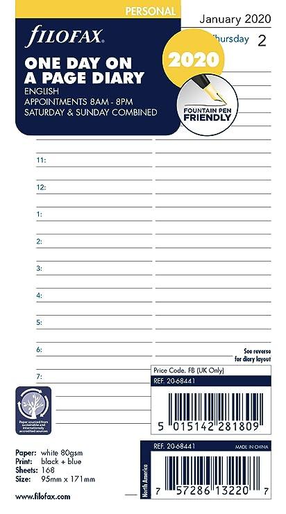 Filofax - Recambio para agenda (2020)