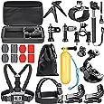 Neewer 21-en-1 Action Caméra Kit d'Accessoires pour GoPro Hero 4/5 Session, Hero 1/2/3/3 +/4/5, SJ4000/5000, Xiaomi Yi, Nikon et Sony Sport DV Natation Aviron Escalade Vélo Camping et D'autres