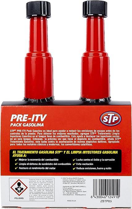 Stp ZSTP03 Pre-ITV con limpia inyectores coches gasolina, Verde, 400 ml