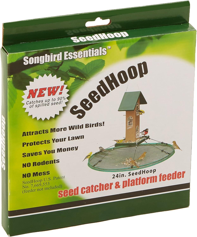 Songbird Essentials SEIA30024 Seed Hoop Seed Catcher & Platform Feeder