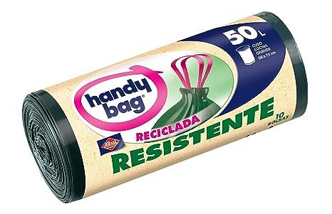 Handy Bag Bolsa de Basura Resistente Reciclada, 50 L - 10 ...