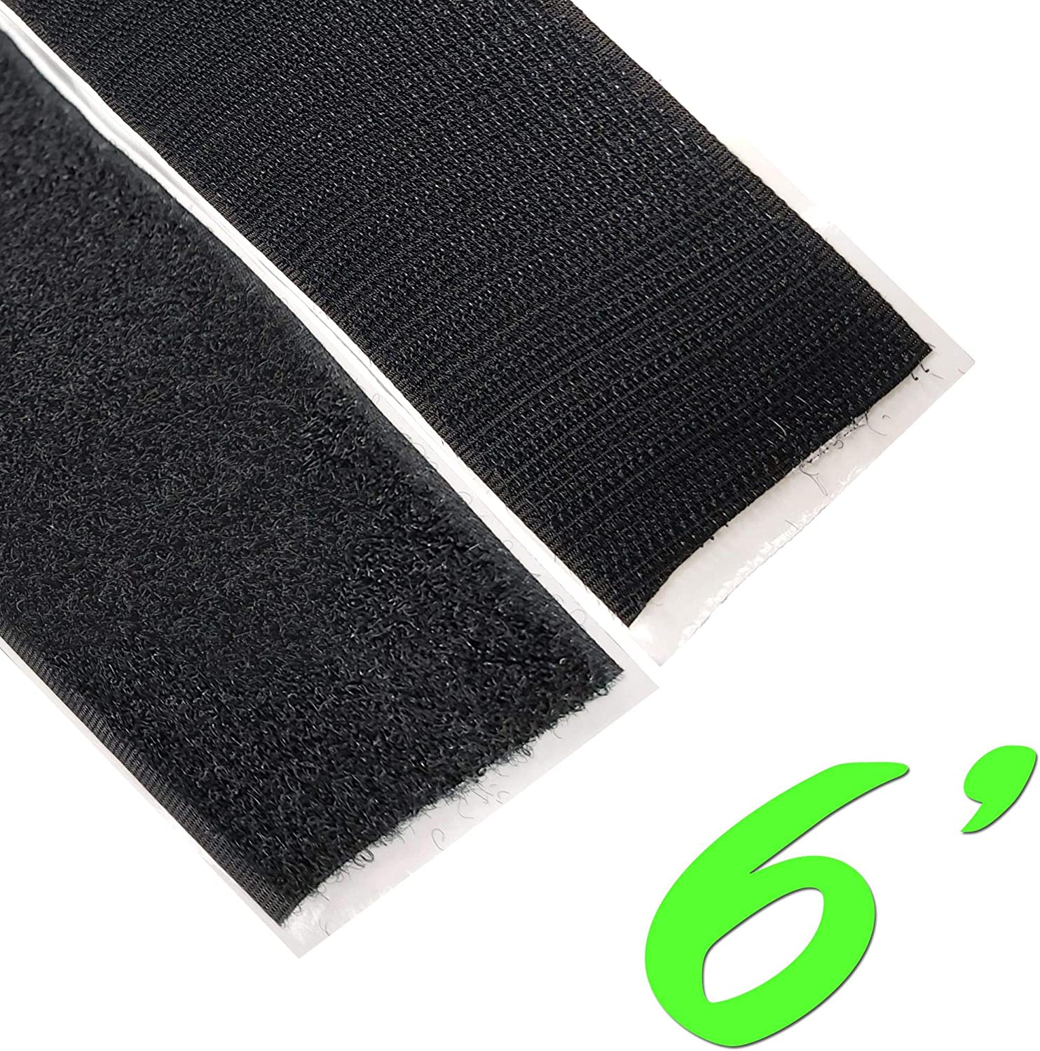 "FREE SAME DAY SHIPPING! 1/"" 5 Feet Black Self Adhesive Sticky Hook and Loop Tape"