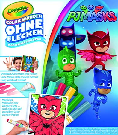 12817 Crayola Color Wonder Lekesiz Boyama Pijamaskeliler Amazon