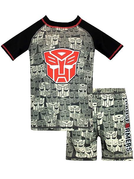 ee3502a3aa Amazon.com: Transformers Boys' Autobots Two Piece Swim Set: Clothing