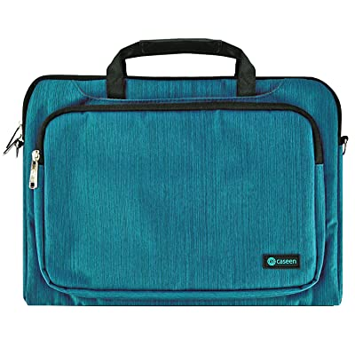"13"" Inch Laptop Sleeve, 13.3"" Inch Ultrabook Messenger Bag, caseen ENVOY Unisex Laptop Messenger Bag Sleeve Cover Case for up to 13.3"" Laptops / Ultrabooks (Teal)"