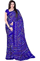 Aaradhya Fashion Women Crepe Saree with Blouse Piece (AFMOSS-0103_Blue)