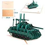 Dreamen Military tank pop-up cards craft 3D