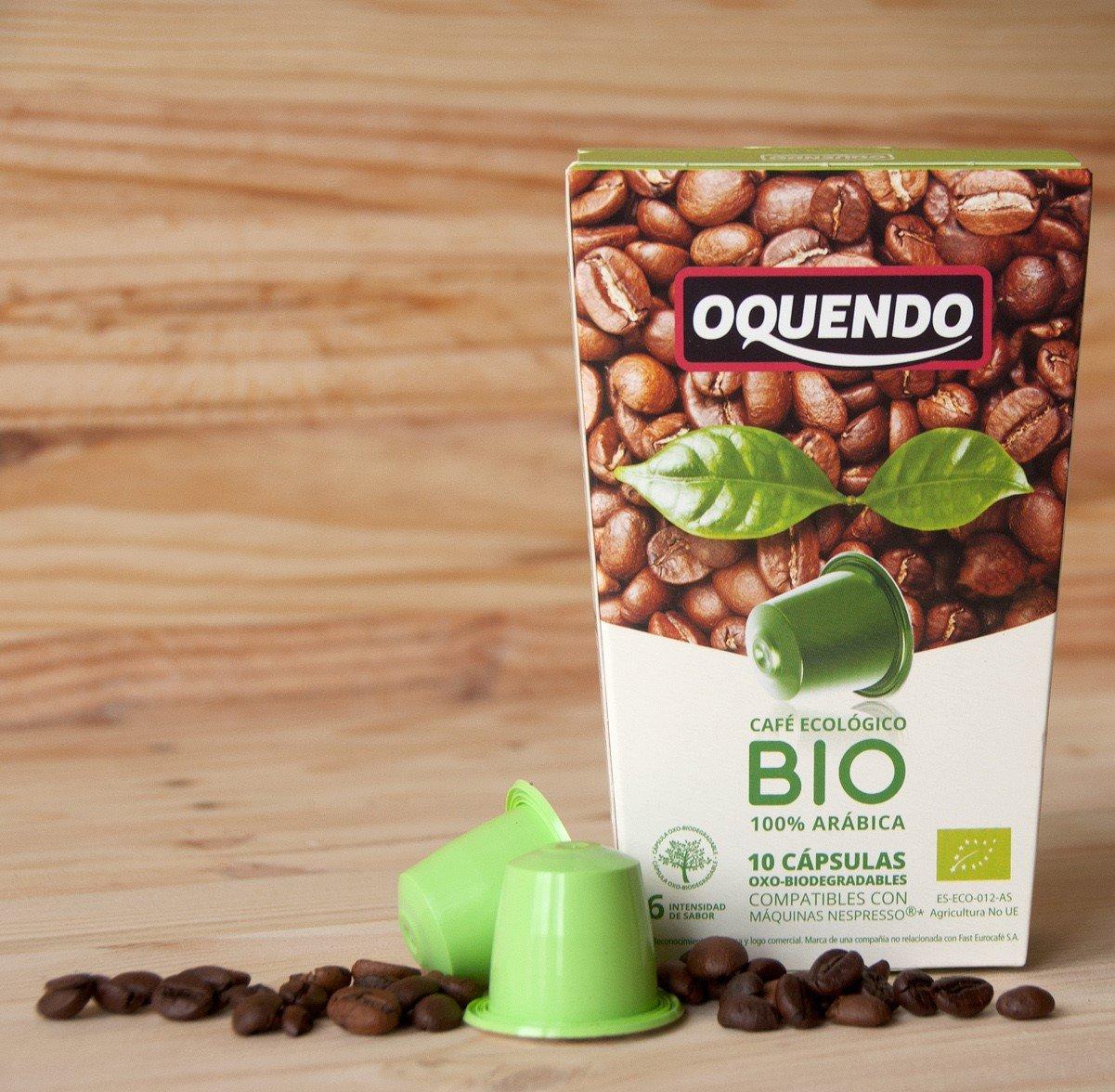 80 Cafés Oquendo Nespresso Compatible Coffee Capsules – Organic Bio, Oxo-Biodegradable Capsules - Premium Quality 100% Pure Arabica Nespresso - 8 Boxes 10 ...