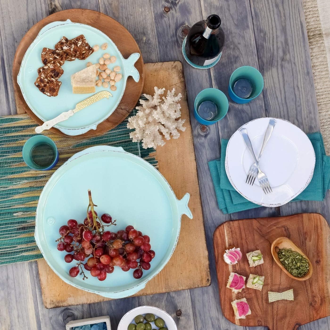 Amazon.com: Vietri Lastra Vajilla de pescado: Kitchen & Dining