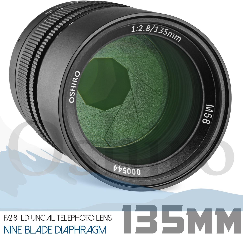 SL1 /& SL2 60D 70D T6s T7i Oshiro 135mm f//2.8 Telephoto Full Frame Lens for Canon EOS Digital SLR Cameras EOS 80D T5i 77D 5D T6i 7D T6 6D T5 7D Mark II