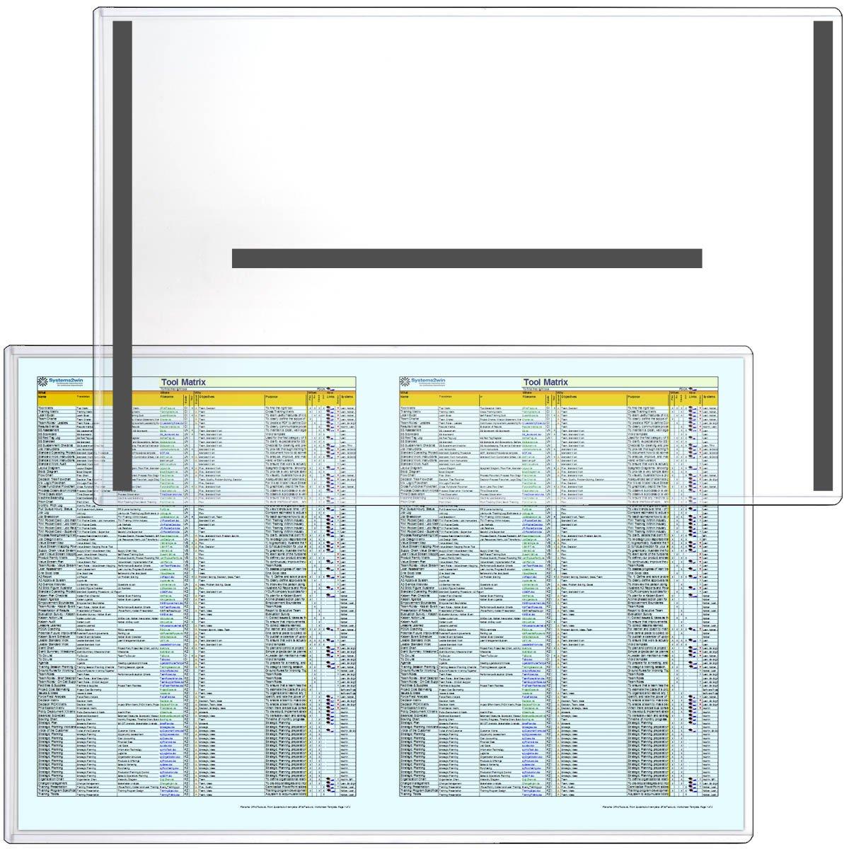 StoreSMART - Magnetic Frames - Rigid Plastic - 25-Pack - 11'' x 17'' A3 Size - 25-Pack - Lean / 5S / Six Sigma - HPP11X17M-LEAN-25
