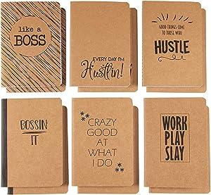 Kraft Paper Notebook for Boss Day, Boss Travel Journal (4 x 5.75 in, 12 Pack)