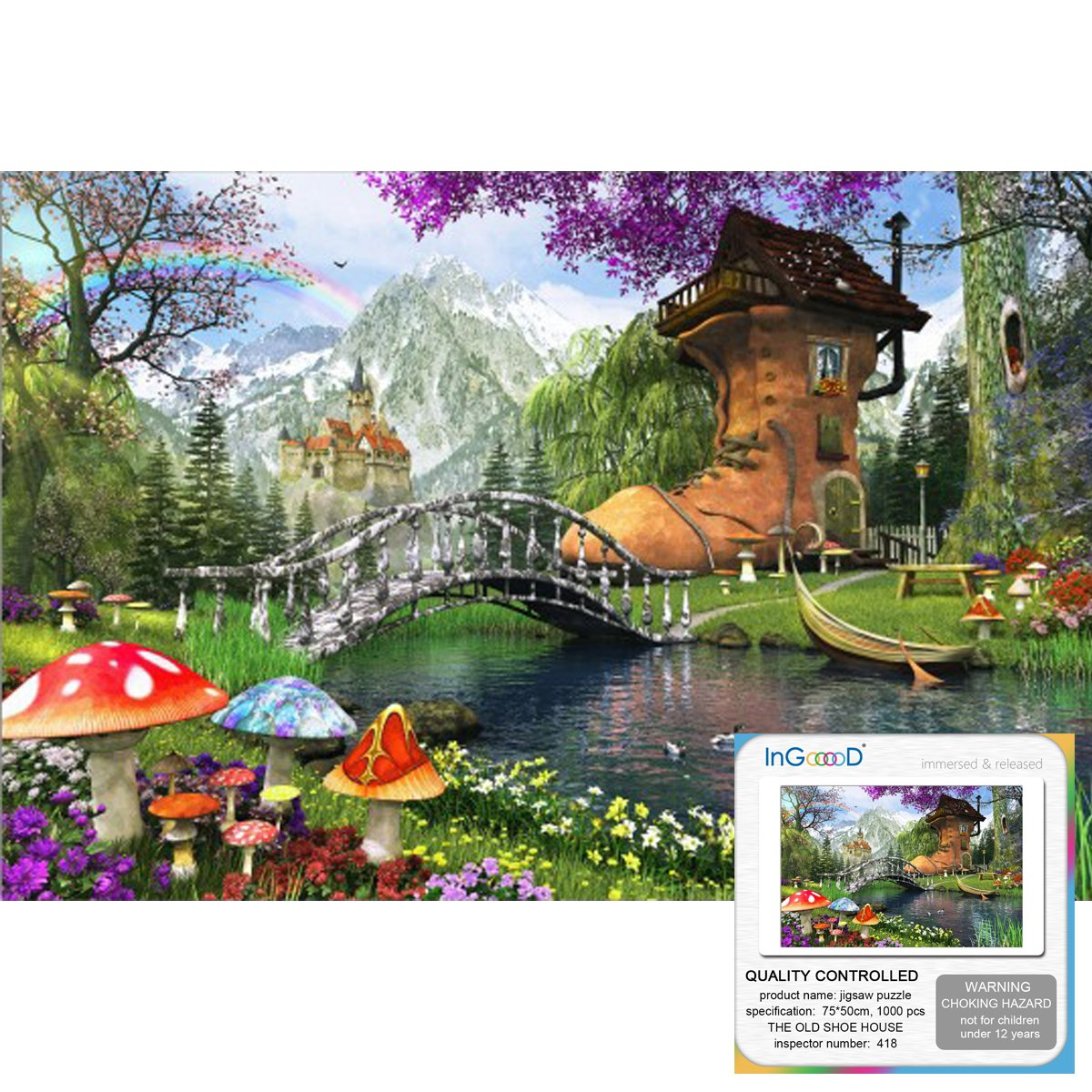Ingooood Jigsaw Puzzle 2018 Painting Series The Old Newbeetleorgexploded Diagrams Part Numbers Gooood Stuff Shoe House 1000 Pieces For Adult Graduation Toys Games