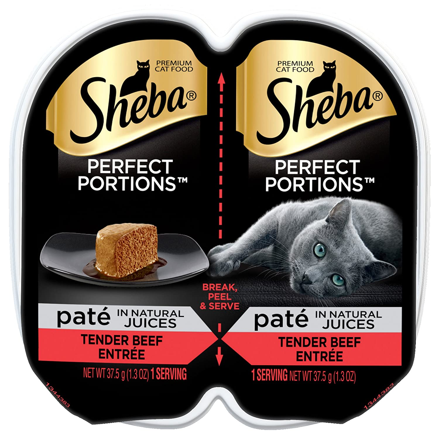 Sheba Premium Cat Food Perfect Portions Pate Tender Beef Entree - 2 Ct