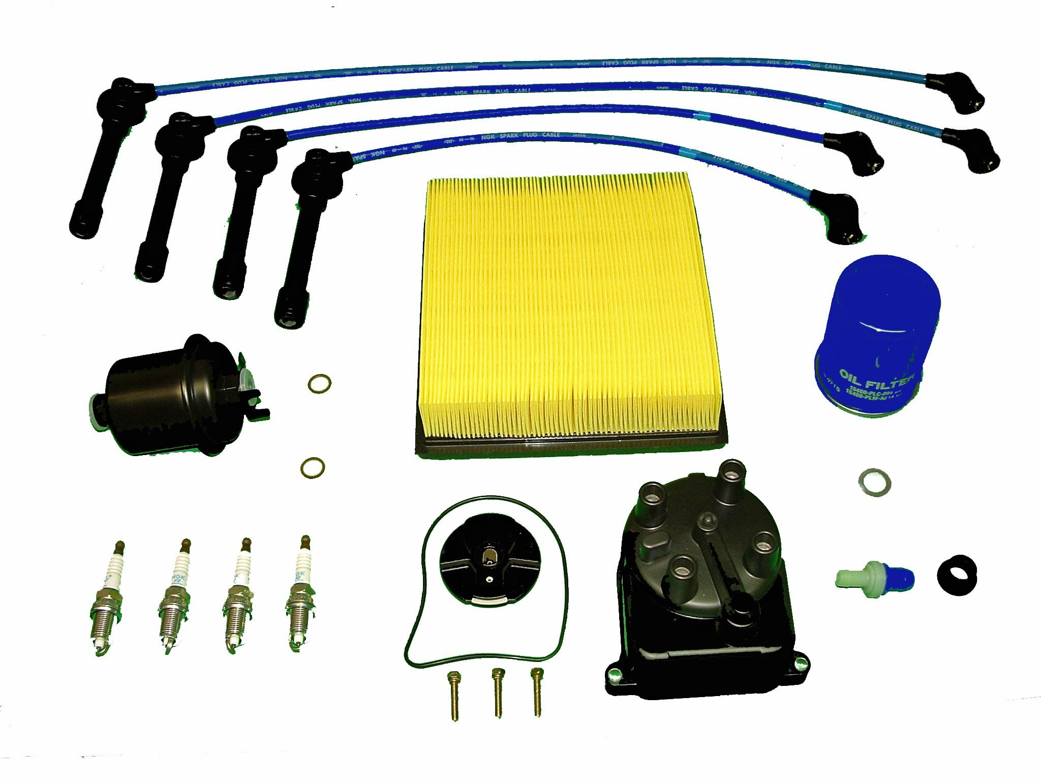 Tune Up Kit Replacement For Honda Civic EX 1996 to 2000 1.6L by TBK Timing Belt Kit