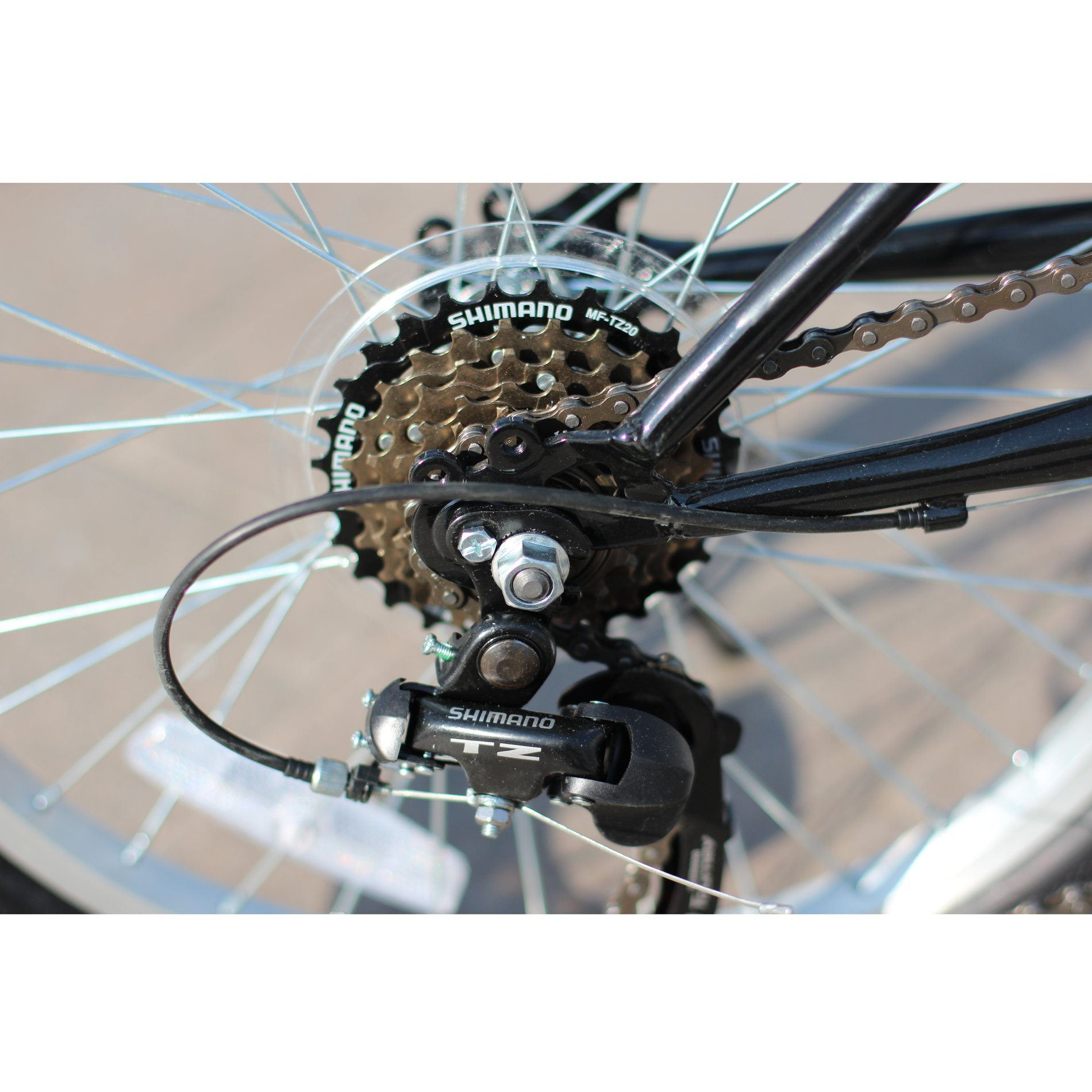 IDS Home Unyousual U Arc Folding City Bike Bicycle 6 Speed Steel Frame Shimano Gear Wanda Tire, Black by IDS Home (Image #6)