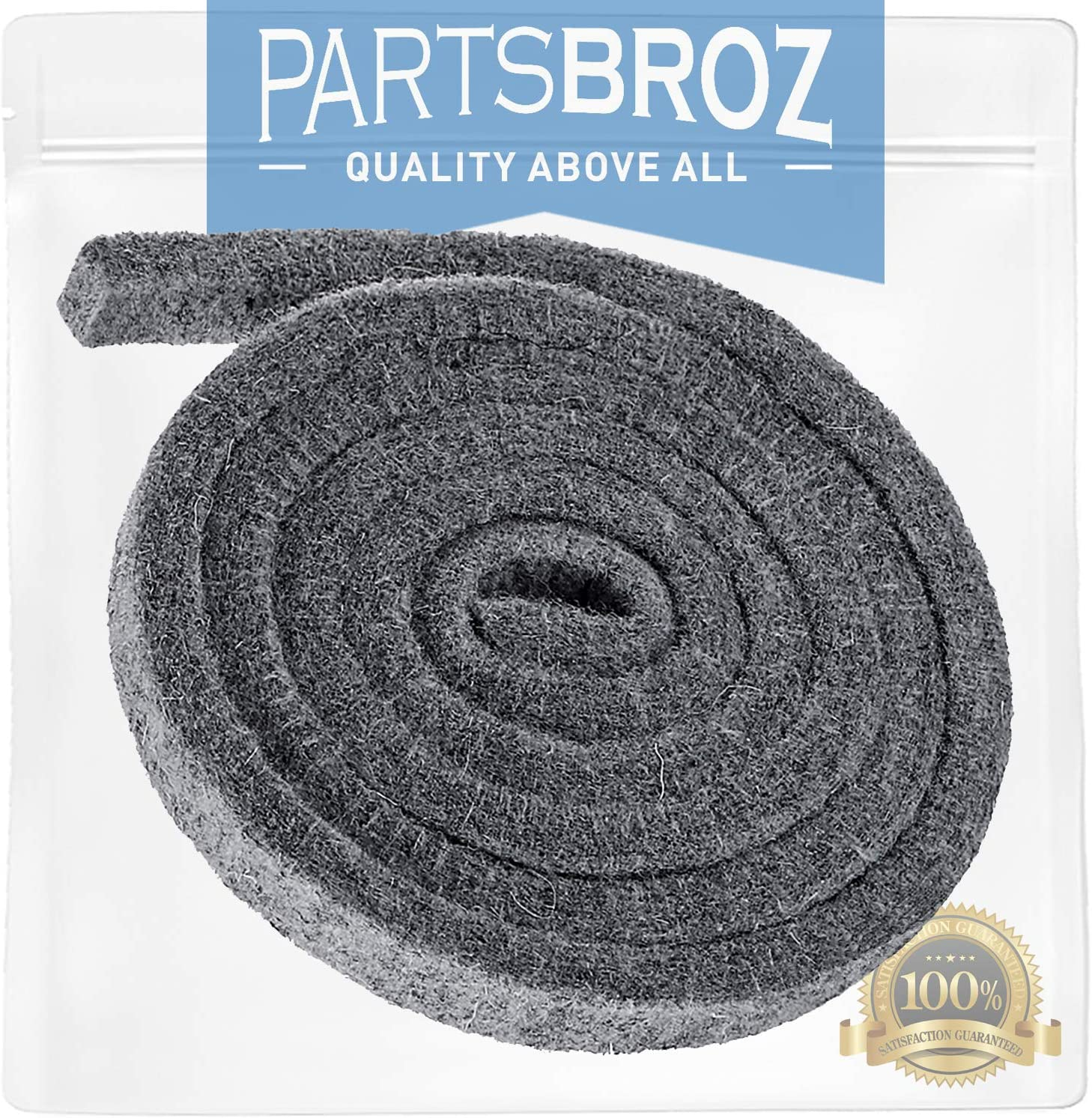 WE09X20441 Felt Trap Duct for GE Dryers by PartsBroz - Replaces Part Numbers AP5949286, WE9M30, 3290413, PS9861764, WE09M0015, WE9M15