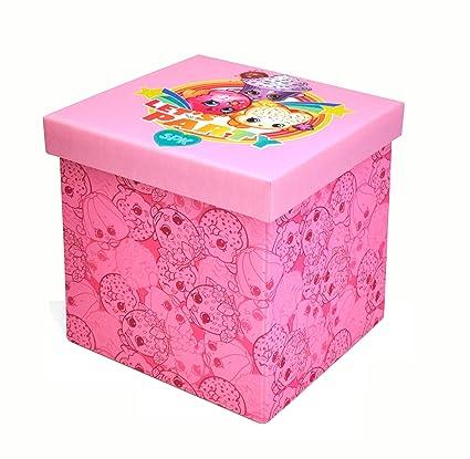 Tremendous Shopkins Sit Store Ottoman Pink 15 X 15X 15 Machost Co Dining Chair Design Ideas Machostcouk