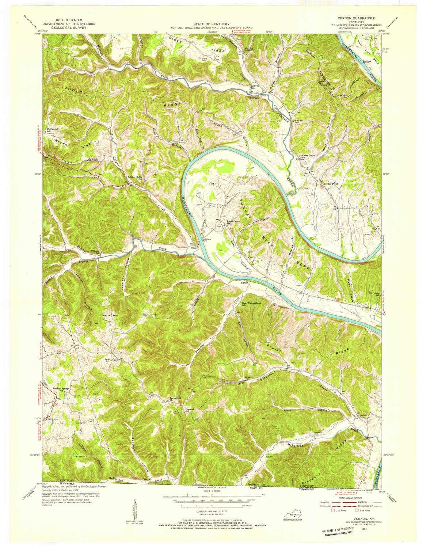 Amazon.com : YellowMaps Vernon KY topo map, 1:24000 Scale ...