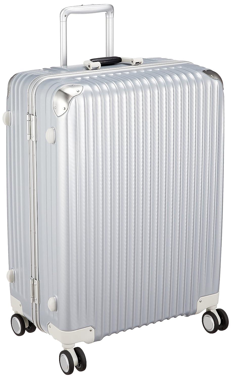 [カーゴ] スーツケース ハードキャリー フレーム   双輪消音キャスター   TSAロータリーロック   保証付 100L 66 cm 5.4kg B07BSDP266 シルバーカーボン