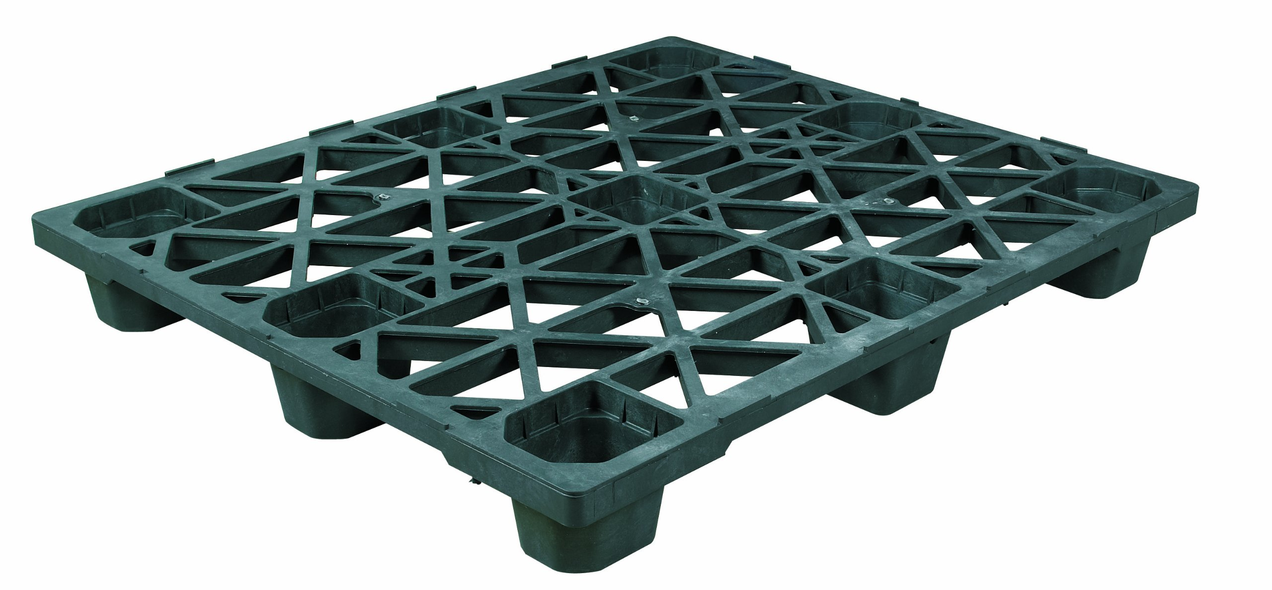 Aviditi CPP330 Industrial Plastic Pallet, 48'' x 40'' x 5 1/2'', Black
