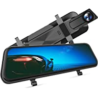 """VanTop H610 10"""" 1440P Mirror Dash Cam for Cars with Full Touch Screen, Waterproof Rear View Mirror Camera, Enhanced…"""