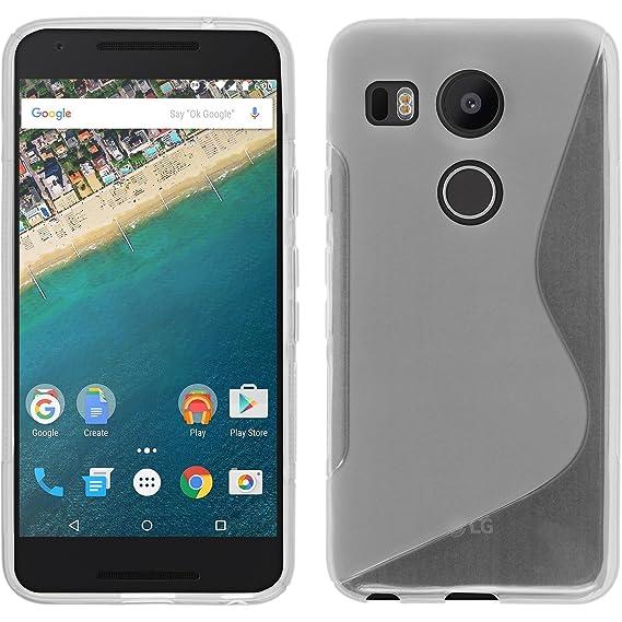 sports shoes 7d1b2 4d479 Amazon.com: Silicone Case for Google Nexus 5X - S-Style transparent ...