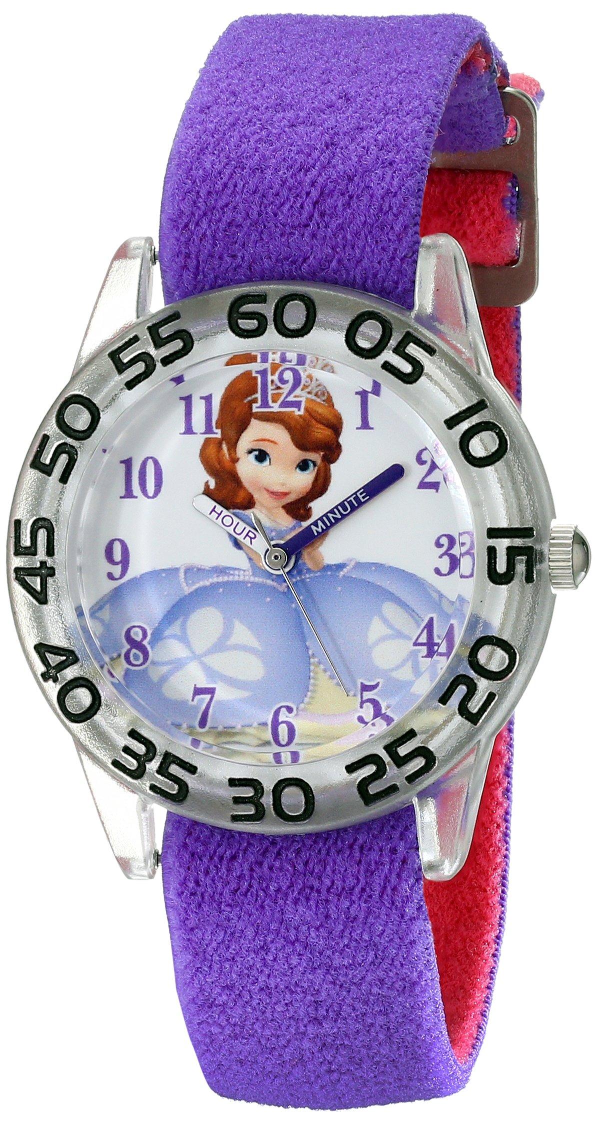 Disney Kids' W001958 Sofia Analog Display Analog Quartz Purple Watch