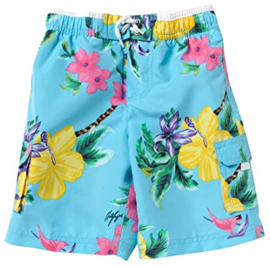 50079e61 Image Unavailable. Image not available for. Colour: Tommy Hilfiger Boy's  NATHAN MINI FLOWER SWIMSHORT BJ51115627 Swim Shorts, Blue ...