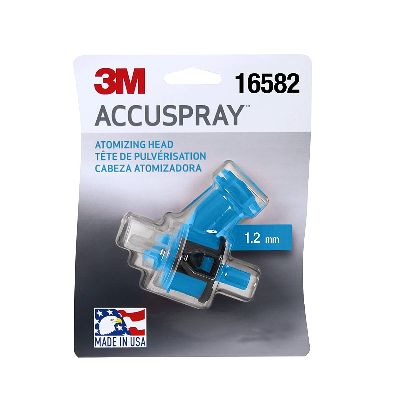 3M(TM) Accuspray(TM) Atomizing Head, 16582, Blue, 1.2 mm, 1 atomizing heads per each