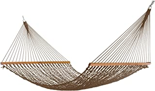 product image for Nags Head Hammocks NH14MOCExtra-Wide Mocha DuracordRope Hammock with Free Extension Chains & Tree Hooks, Handcrafted in The USA, Accommodates 2 People, 450 LB Weight Capacity, 13 ft. x 60 in.