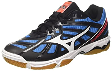 size 40 0b75f db758 Mizuno Men s Wave Hurricane Volleyball Shoes, Multicolour  (Black White Fierycoral 01)