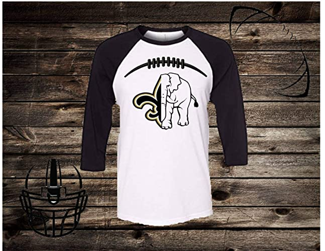 6d596372c Amazon.com: Handmade NFL Football Shirt/College Football Shirt/New Orleans  Saints/University of Alabama/Will Personalized with any college or NFL  Team: ...